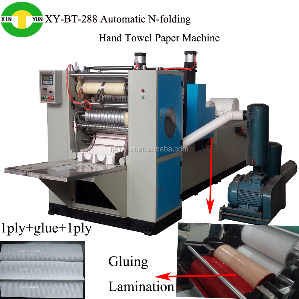 Automatic N fold hand towel paper machine