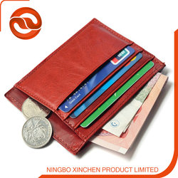 promotional high quality 100% genuine leather credit card holder