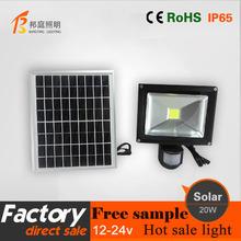 Good lighting CE ROHS 10W solar spotlight led with pir motion sensor, led sensor light, solar motion solar led flood light