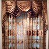 2015 new design curtain,embroidered curtains velvet and sheer curtains fabric