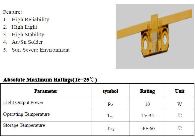 High performance 10 watt laser diode 10w 808nm