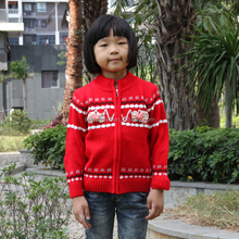 Bowknot adornment girls cardigan fashion girls winter sweater coat factory price