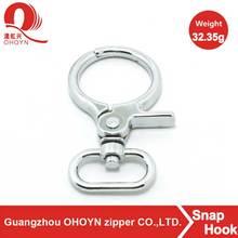 fashion metal fitting zinc alloy spring snap hook for handbag bag