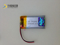 new battery 302040 3.7v 210mAh Li Polymer Battery for Digital products