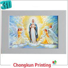 3D lenticular printing virgin mary 3d picture 3d of 3d for gift