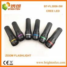 OEM Logo AAA Battery Zoom Focus Aluminum Portable best torch