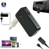 A2DP 3.5mm Wireless Bluetooth3.0 Car Kit AUX Audio Stereo Music Receiver Adapte