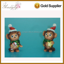 Polyresin christmas ornaments monkey used items in bulk