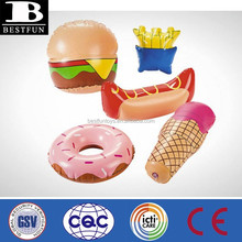 Promotional customized inflatable fast food portable hot dog plastic portable fake hot dog