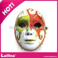 Hot sell venetian style glitter metal butterfly mask for halloween