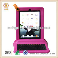 For iPad Case With Keyboard Bluetooth EVA Hot Pink