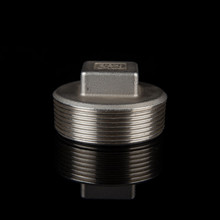 stainless steel pipe fittings thread mechanical square plug