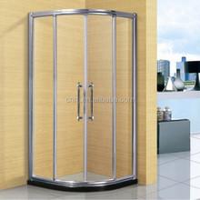 6mm transparent custom made circular shower enclosure (A-865)