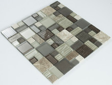 MIX SIZE DESIGN CRYSTAL AND STONE MOSAIC MIXTURE