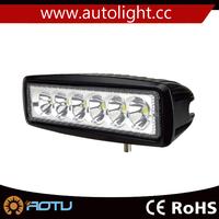 6.3Inch 18w led portable work light retractable Flood Beam LED Light Bar Roof Side Rack Trunk Lamp IP67 led light work
