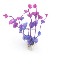 10 CM Wholesale Aquarium Landscaping Fake Grass Purple Color Fish Products Supplier PF002