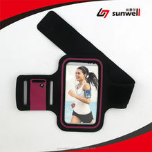 Waterproof Neoprene Fabric Reflective Sport Armband With 2 Pockets For Gym Key & Card