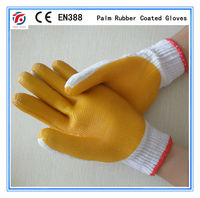 palm rubber coated gloves WORK GLOVES
