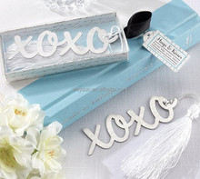 Wedding Favors gift cute XOXO style stainless steel bookmark special wedding shower party gifts