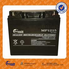 made in China vrla sealed lead acid agm solar gel deep cycle 48v 36v 24v 12v 15ah 20hr ups battery for ups with CE