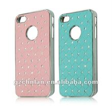 Refined diamond chrome cover for iPhone 4s bling cell phone covers