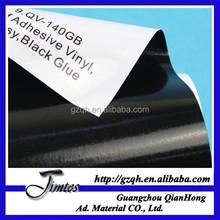 140gsm 100micron glossy pvc custom black adhesive car uv vinyl