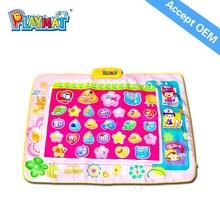 HX1807 kids play mat/baby non-toxic play mat/plush baby play mat