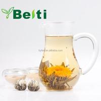 2015 new high quality organic blooming flower tea made of best Green Tea and Calendula EU standard