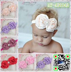 European hot selling kids hair accessories rose flower with pearls human hair full lace wigs honda crv accessories MY-AB0042