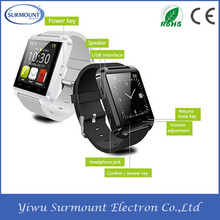 2015 Cheapest Factory supply Bluetooth U8 Smart watch wrist Android & IOS mobile phones
