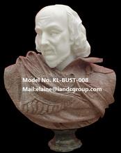 La vie taille antique sculpté pierre hommes buste statue