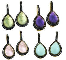 Nuevo diseño moda zircón joyas pendiente de las mujeres