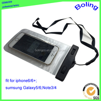 waterproof cell phone cases with plastic lock,mobile phone PVC waterproof dry bag for promotional gift