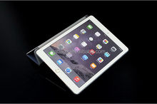 2015 hot sell pu view cover for ipad 2