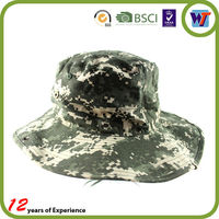 Ear Flap Fisherman Camo Bucket Hat With String Sun Protect