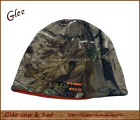 Custom sublimation cotton camo beanie hat winter hunting hat