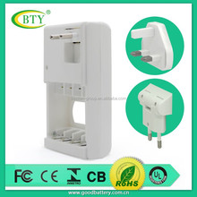 Best selling high quality portable charger for 4pcs for AA/AAA ni-mh / ni-cd 9v battery charger