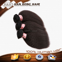 Cheap wholesale top quality human hair weave 100% human hair silky yaki perm weave