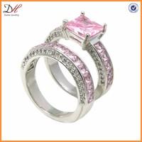 Pink Sapphire White Gold Filled Rings, Top Fashion Women Wedding Ring