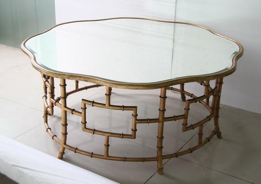 Bambou m tallique vintage style miroir table basse pour le - Meubles par correspondance ...
