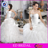 CE193 Plus Size Sexy Low Back Beading Organza Ball Gown Wedding Dress Patterns Free