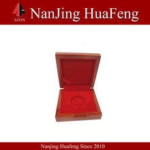 2014 hot sale custom fashional logo printed wooden collectible coin case