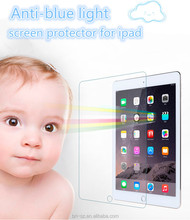 2015 new coming hot sale anti bule light tempered glass for ipad mini 4