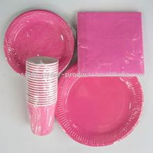 Solid Color Disposable Plates and Tableware