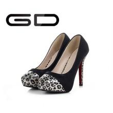 Made in China nuevo estilo leopard diseño de la muchacha de moda mujeres bombas de la oficina
