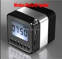 Hot Mini Bluetooth Music Speaker Multifunction FM radio Clock LCD screen Nizhi SDY-018 mini speaker