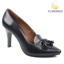 FLAMINGO 2015 LATEST ODM OEM latest design lady shoes women Tassel high-heeled shoes