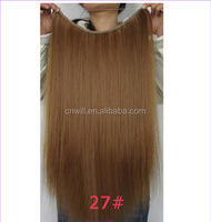 Straigh Hair Flip in Halo Hair Extension FISH LINE HAIR 22inches 50grams