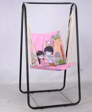 Portable foldable single seat kids swing hanging chair