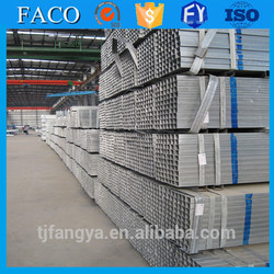 Tianjin gi square rectangular pipe ! galvanized steel pipe 4inch low price hot dip gi rectangular hollow section
